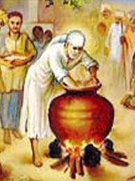 Saibaba Cooking Food